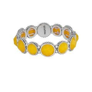 ☘️NWT! Napier Yellow Crystal Stretch Bracelet